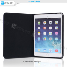 dust proof tablet cover case for ipad mini 3 with soft suede inner lining
