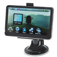 5.0 inch LCD Win CE 5.0 GPS Navigator w/ Bluetooth/FM/AV + 4GB USA & Canada Maps sd Card