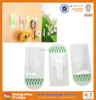 PP material very strong removable adhesive hook wall plastic