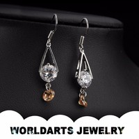 Wholesale Gold Plated Copper Alloy Fashion Drop Cheap Earrings Jewelry