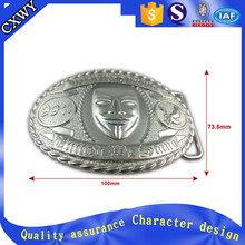 Cheap oval belt buckle with 3D embossed