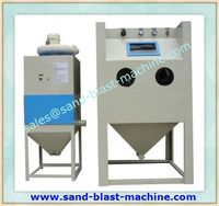 sandblasting machine for small parts rust removing JL-1010EA with free standing dust collector