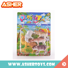 shantou chenghai factory price soft plastic animal farm toy with grass