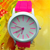 2015 Hot saling silicon band promotional mechanical watch for women
