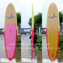 Top price Wooden veneer epoxy longboard surfboard/ bamboo veneer SUP board