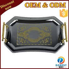 hot sale stainless steel mirror trays/plate wedding/metal serving tray for India T088