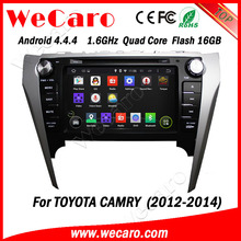 """Newest Android 4.4.4 car dvd in dash 8"""" android car pc for toyota camry bluetooth 2012 2013 2014"""