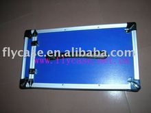 2012 Aluminum blue instrument case with sponge inside for the zip size 520*230*230MM