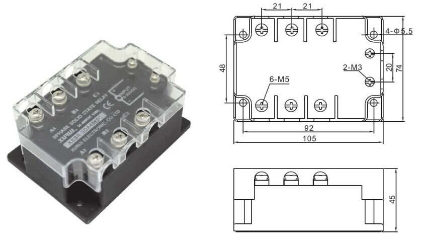 24      480v    Solid State Relay Ssr 3phase  Three Phase