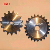 Pitch 38.1mm Low Noise Long Working Life Stock Bore double row sprocket