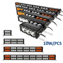 orange and white 10watt led offroad light 180w double row led bar amber combo lightbar