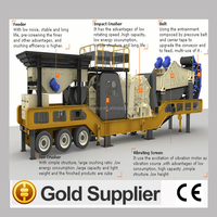 High efficiency stone crusher mobile impact crusher plant