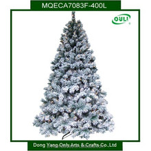BSCI Outdoor Artificial Christmas Tree 7FT With Lights And Snow