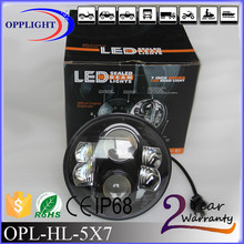 "led head light 7' round led headlight truck-lite 7"" led headlight with 3 year warranty"