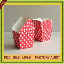 Dotties Polka Dots Square party paper muffin cups baking cups