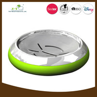 Green stainless steel and ceramic recessed soap dish holder