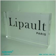 Clear printed logo block acrylic for Display Blocks Crafts