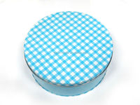 Nice round cake cookie tin box