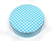 Nice round cake cookie tin box