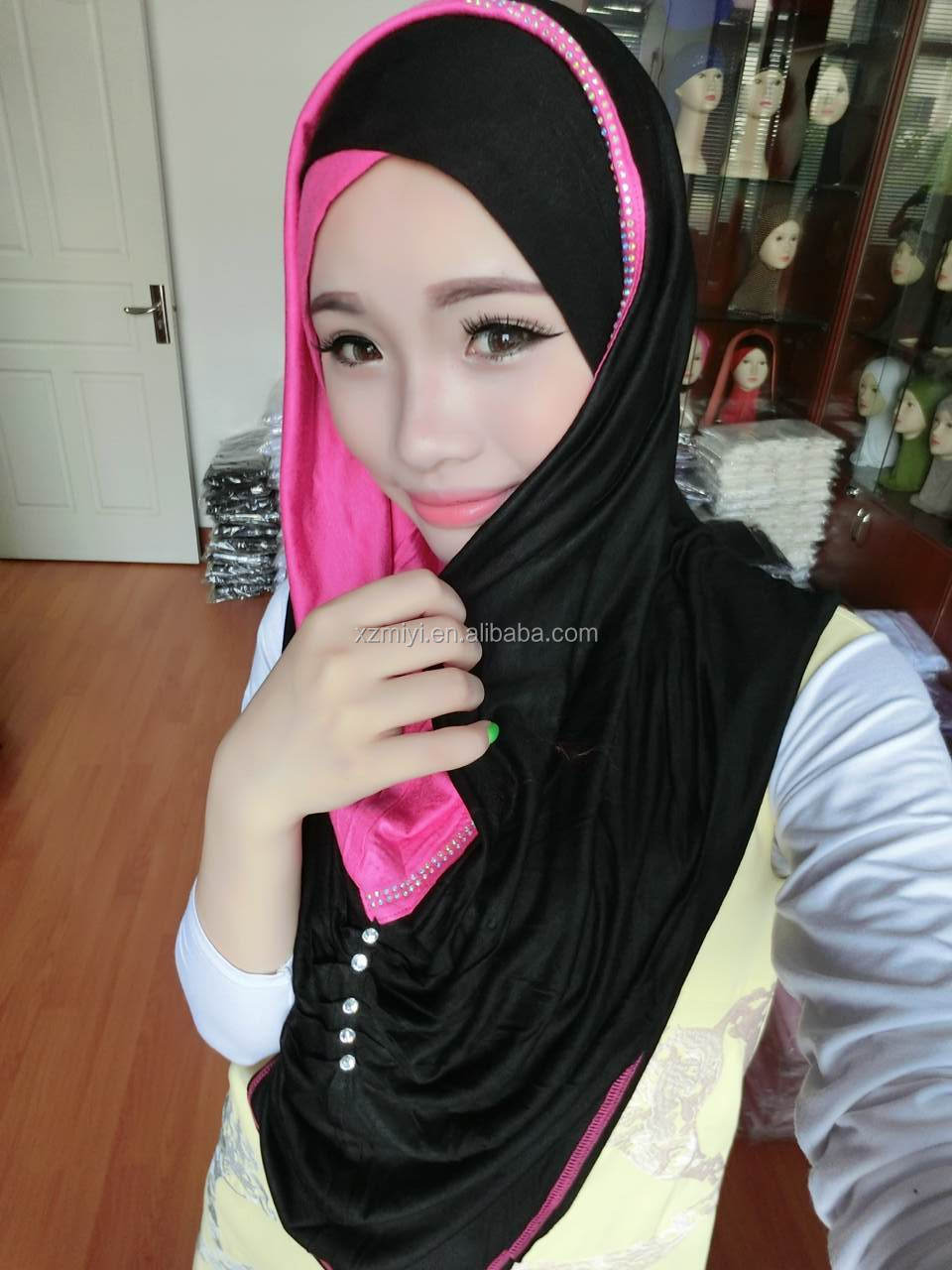 Wholesale Cotton Jersey Scarf Hijab Muslim Hijab Fashion
