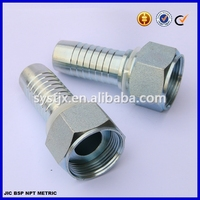 Carbon steel flat seat hose fitting, hydraulic ORFS hose fitting