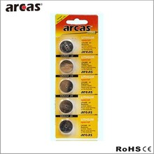 3v button cell lithium battery, cr 2032 battery