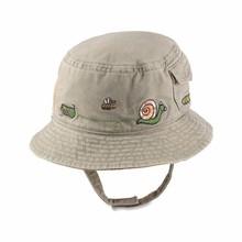 2015 fashion summer kids wool felt bucket boonie hat with chin strap