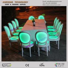 lounge muebles/sillas/mesas/cocteleras/bares/mesas de apoyo/decoración iluminadas
