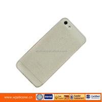 TRANSPARENT GLITTER TPU SKIN CASE COVER FOR IPHONE 5