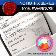 Hot Sale Swarovski Elements AB Light Rose (223AB) 12ss Flat Back Crystal Non HotFix