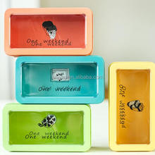 wholesale metal pvc window makeup case for cosmetic packaging