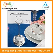 Romantic Wedding Party Crystal Place Card Holder