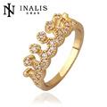 Chapado en oro de joyería italiana 2014 anillo de moda fábrica proveedora precio-INALIS
