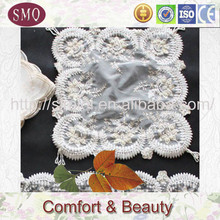 embroidery with lace tablerunner wedding decoration textile felt