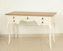 Classic European style White or Natural Bedroom Rectangular Beside Table /Desk (DT-1032-OAK)