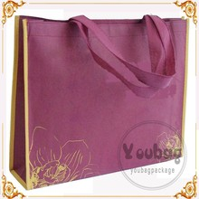 Best Selling Purple Shopping Non Woven Bag
