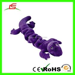 LE Hot Sale Purple Bungee Jumping Lizard Plush Pet Toys For Kids