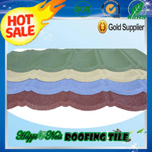 Green color stone coated steel roof tile/ color sand coated metal roofing sheets