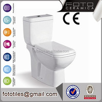 Sanitary ware white color bathroom two piece wc toilet european style