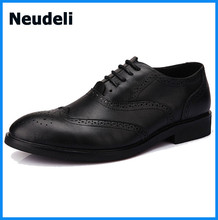 Retro Style Men Dress Shoes Leather Flats Shoes Cut-outs Dinner Party Prom Shoes Price