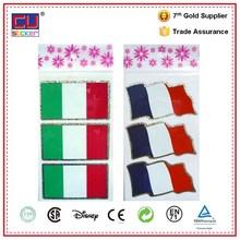 À prova d ' água Laser Foil emblema país Flag adesivos para carro Decor