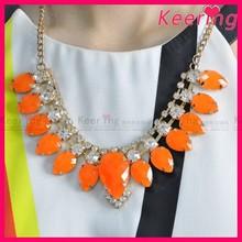 2015 fashion necklace,bead necklace and rhinestone choker necklace WNK-237