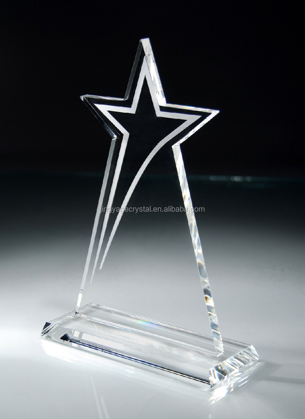 popular star crystal trophy award