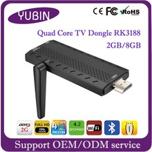 Good selling RK3188 Quad core tv stick with Bluetooth 4.0 android wifi dongle
