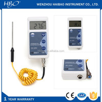 Digital temperature measuring instrument, industrial digital thermometer, temperature gauge for solid liquid or gas
