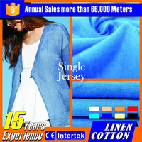 2016 wholesale sublimation transfer printing on 100% organic cotton knit fabric
