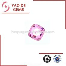 hot sale Square Princess Cut Corner Shaped CZ Synthetic Gemstone Pink Gemstone Cabochon/diamond beads