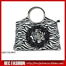 stripe print PU handbag,ladies fancy bags,QQ1115