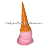 decorative ceramic strawberry ice cream cone bell