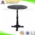 (SP-RT114) style turc manger ronde table en fer forgé et en dessus de marbre dans les meubles